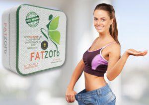 Фото оригинальной упаковки фатзорб в железной банке демонстрирует похудевшая девушка.
